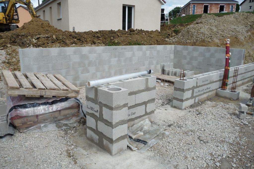mur façade Est