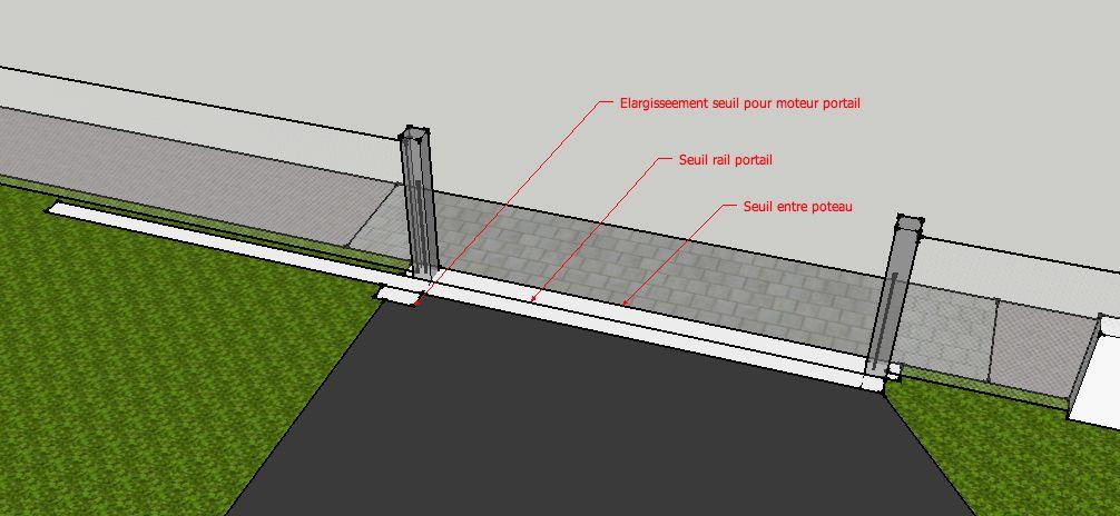 Fabulous Aides et Avis sur réalisation seuil portail et poteaux LR42