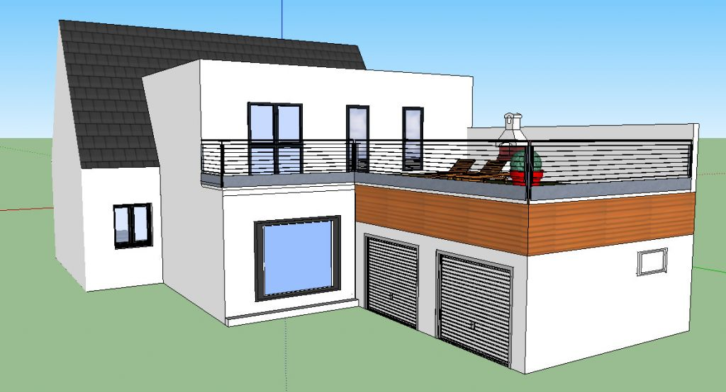 Nouveau plan extension sur maison ancienne 170m 70 for Extension parpaing
