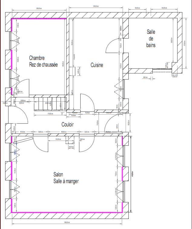 Nouveau plan extension sur maison ancienne 170m 69 for Plan ancienne maison