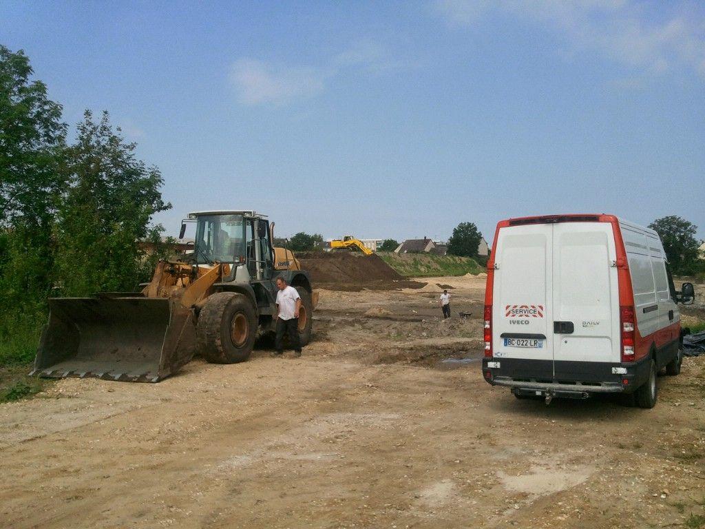 Début des travaux d'aménagement du terrain