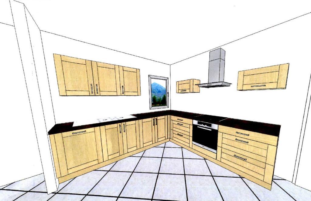 Cuisine simulation fa ence sdb plafond et cloison for Cuisine route de vannes nantes