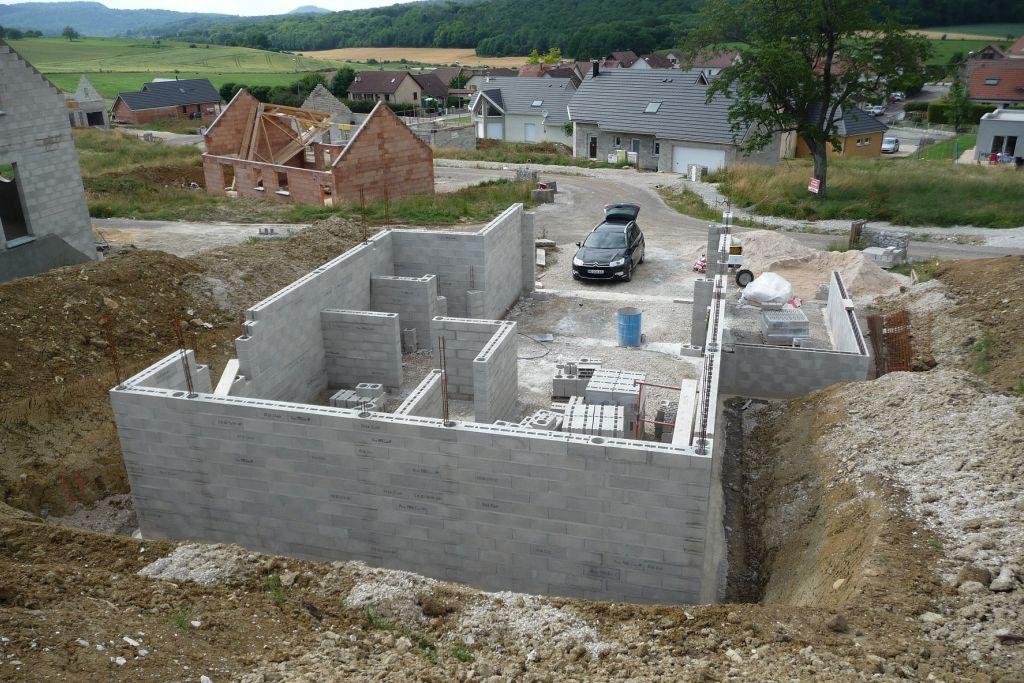 Elévation des murs du sous-sol <br /> Vue d'ensemble