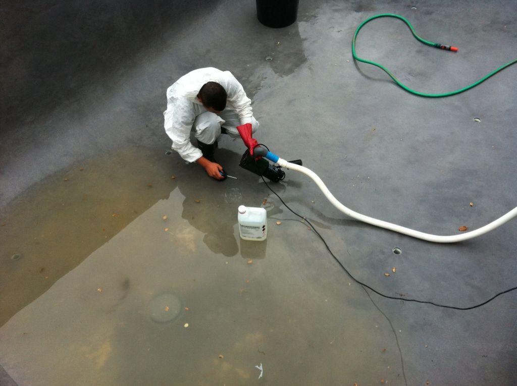 Quelques mois plus tard ma maison contemporaine for Nettoyage a l acide chlorhydrique