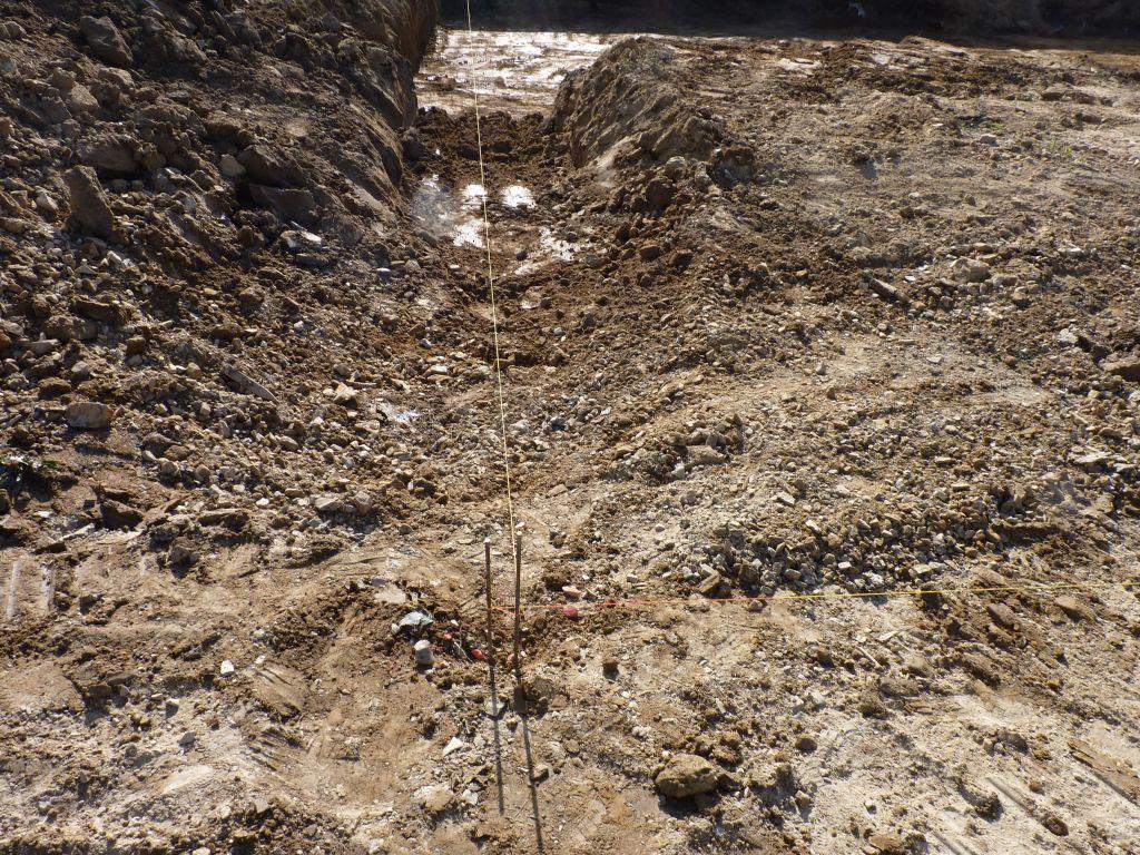 Photo du traçage des fouilles n°1