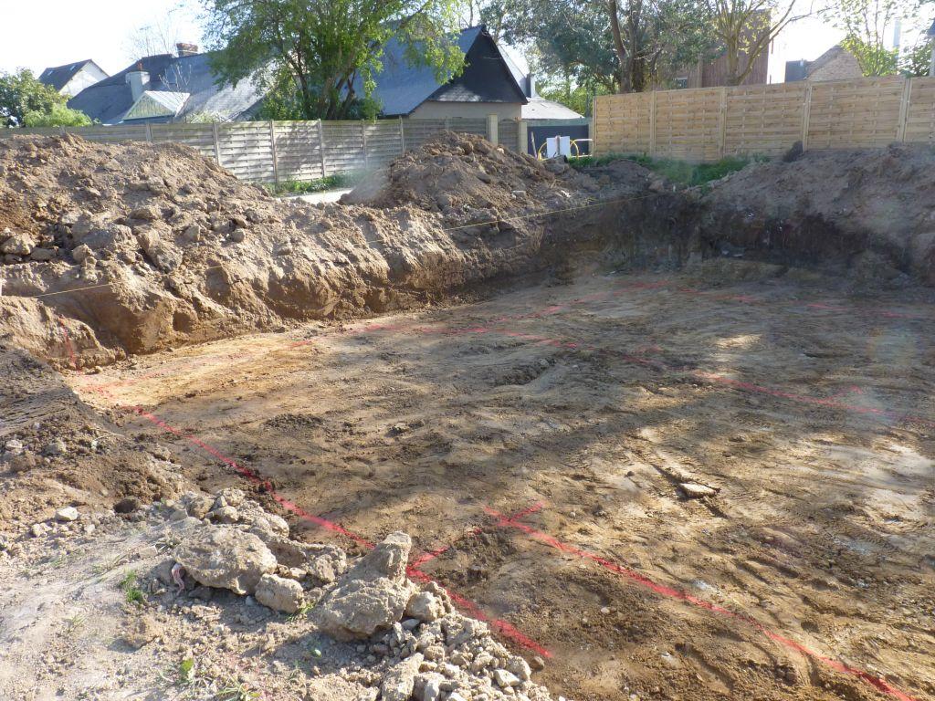 Photo du traçage des fouilles n°2