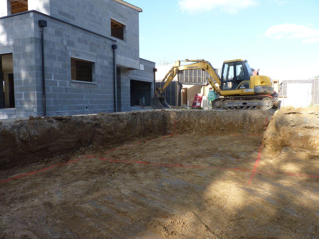 Photo du traçage des fouilles n°3