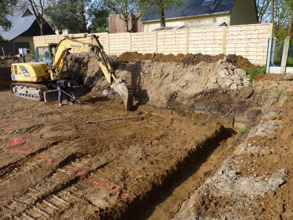 Photo de la réalisation des fouilles n°1