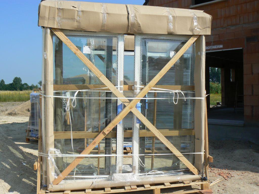 livraison des baies vitrées