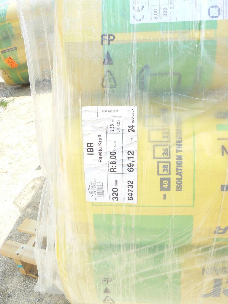 laine de verre 320mm R 8 pour les combles