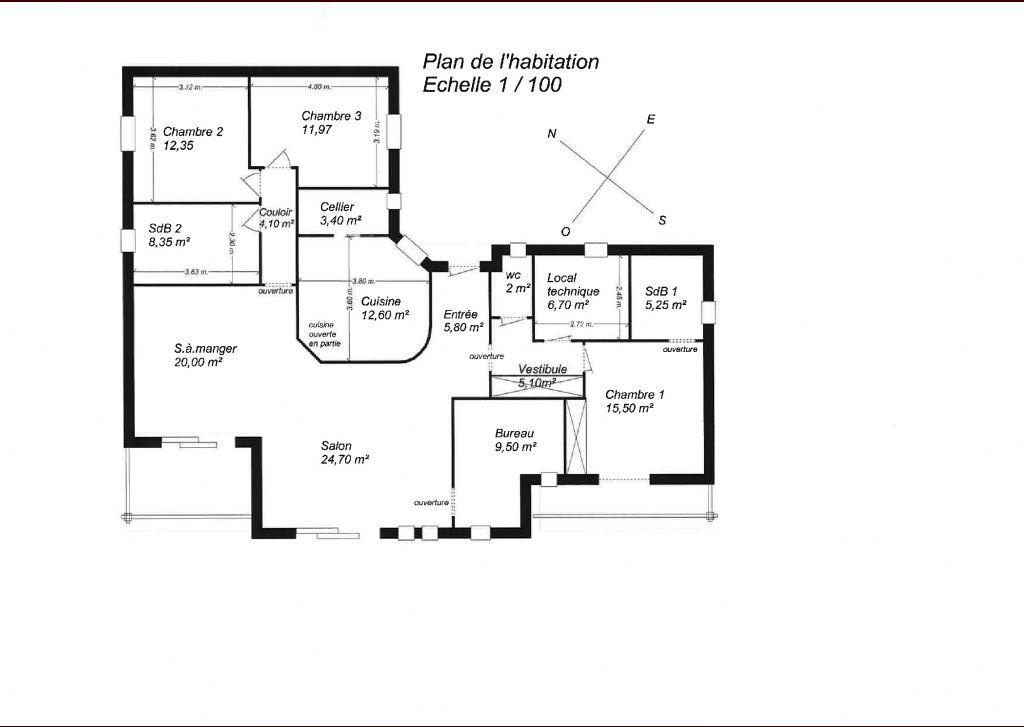 Avis sur notre plan de maison plain pied 145m2 18 messages - Plan maison entree sud ...