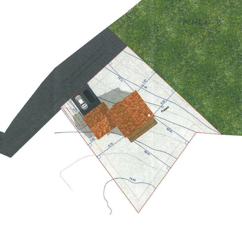 Une idee de l'implantation de la maison <br /> La <a href=