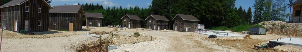 panoramique du chantier de notre mini lotissement