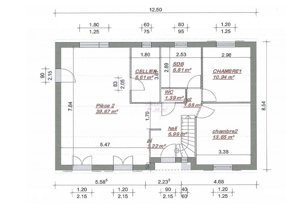 Besoin de vos avis plan maison 89m2 combles am nageable for Plan comble amenageable