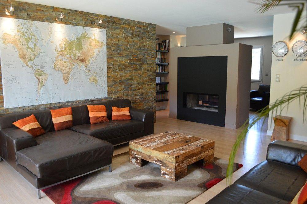 Grand salon et cheminée Luna Gold/M Design