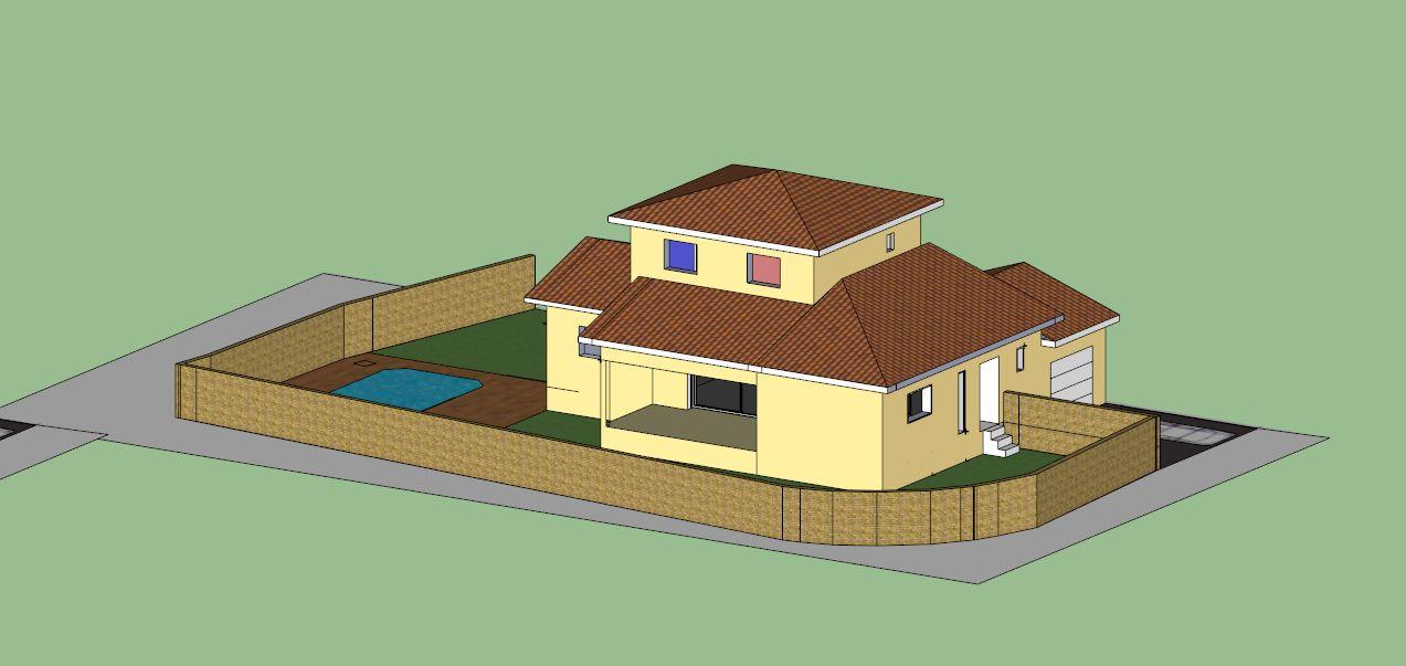 Vue générale de la maison en 3D