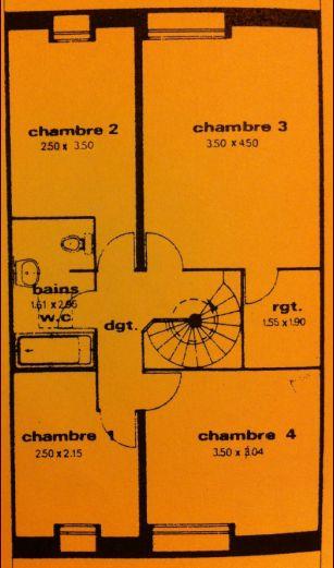 Plan actuel de l'étage avant rénovation