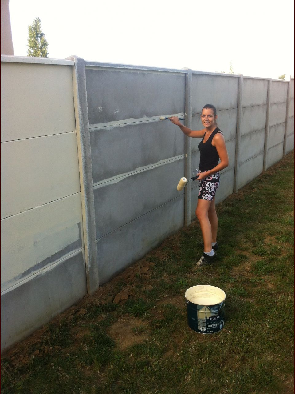 Peinture mur ext rieur cr ation terrasse jardin for Mur exterieur jardin