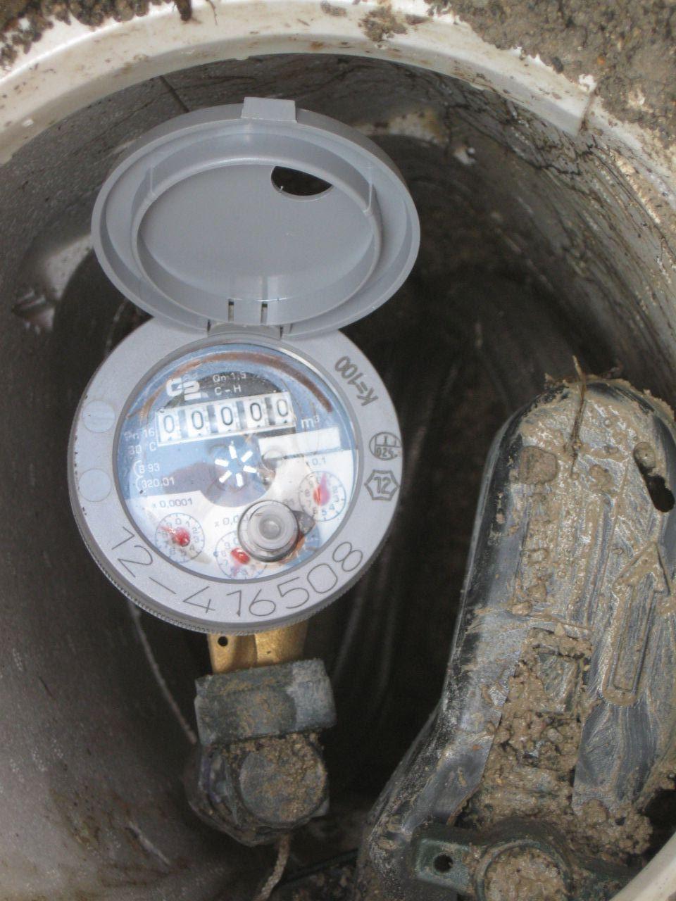 Pose du compteur d'eau