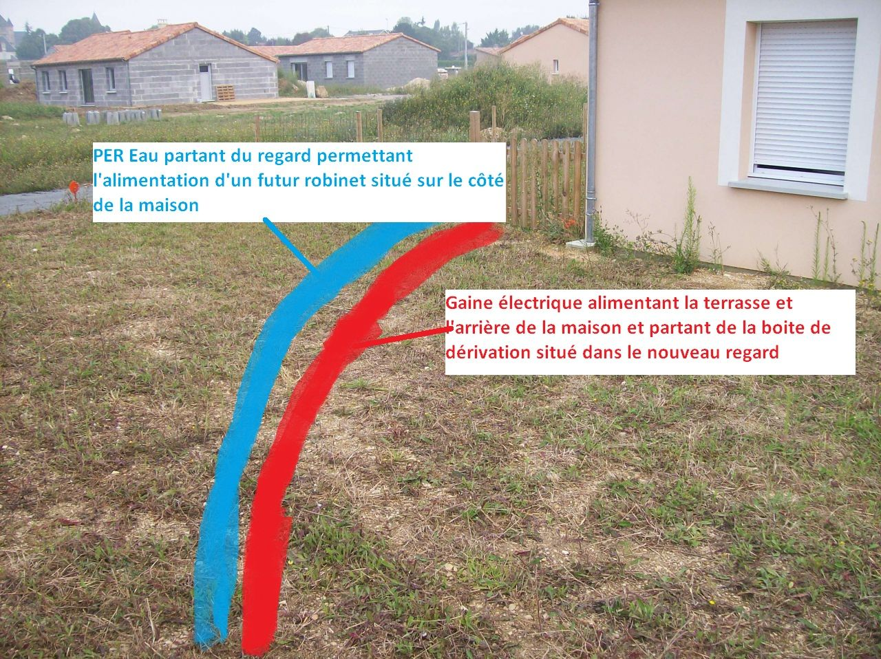 Réalisation Terrasse Alimentation Electrique Et Eau Messages - Alimentation electrique d une maison