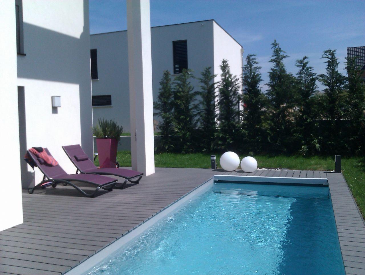 Volet déroulant pour piscine - Sierentz (Haut Rhin - 68) - aout 2013