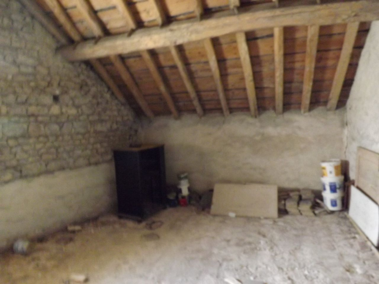 Pignon A Gauche Entre Chambre Et With Prix Casser Mur Porteur With Ouvrir  Un Mur En Pierre.