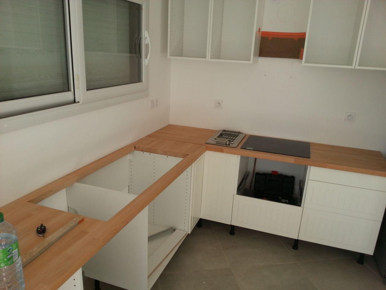 Fabriquer meuble salle de bain avec plan de travail - Fabriquer un plan de travail pour cuisine ...