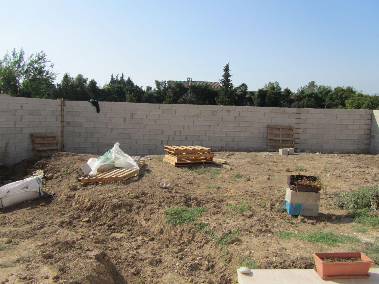 mur face terrasse