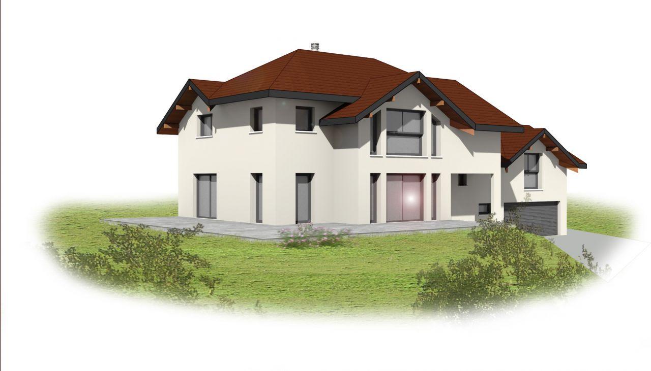 Perspective 3D extraite des plans de permis. Les couleurs de façade ne sont pas définies