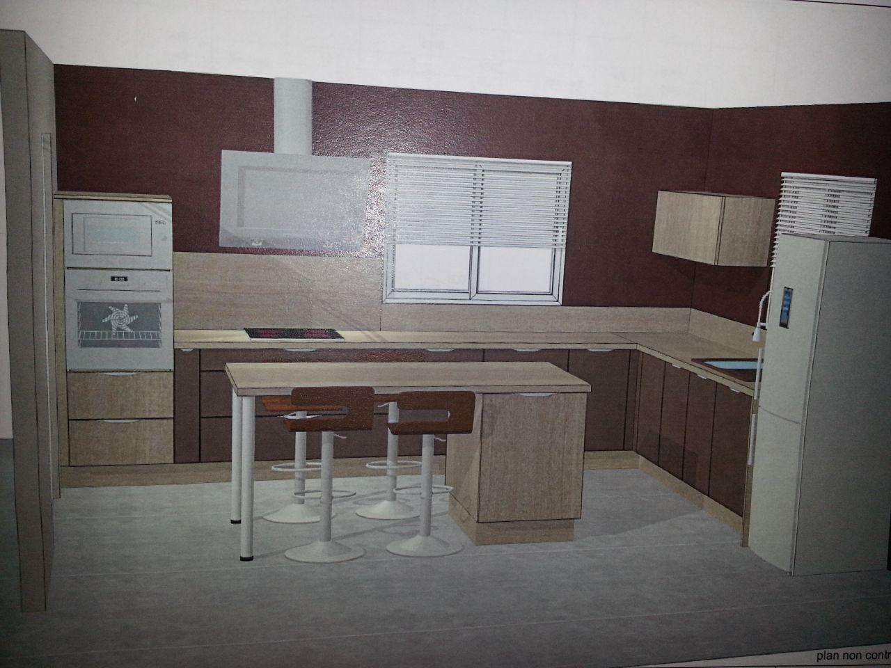 Les projets implantation de vos cuisines 8838 messages - Meuble cuisine cuisinella ...