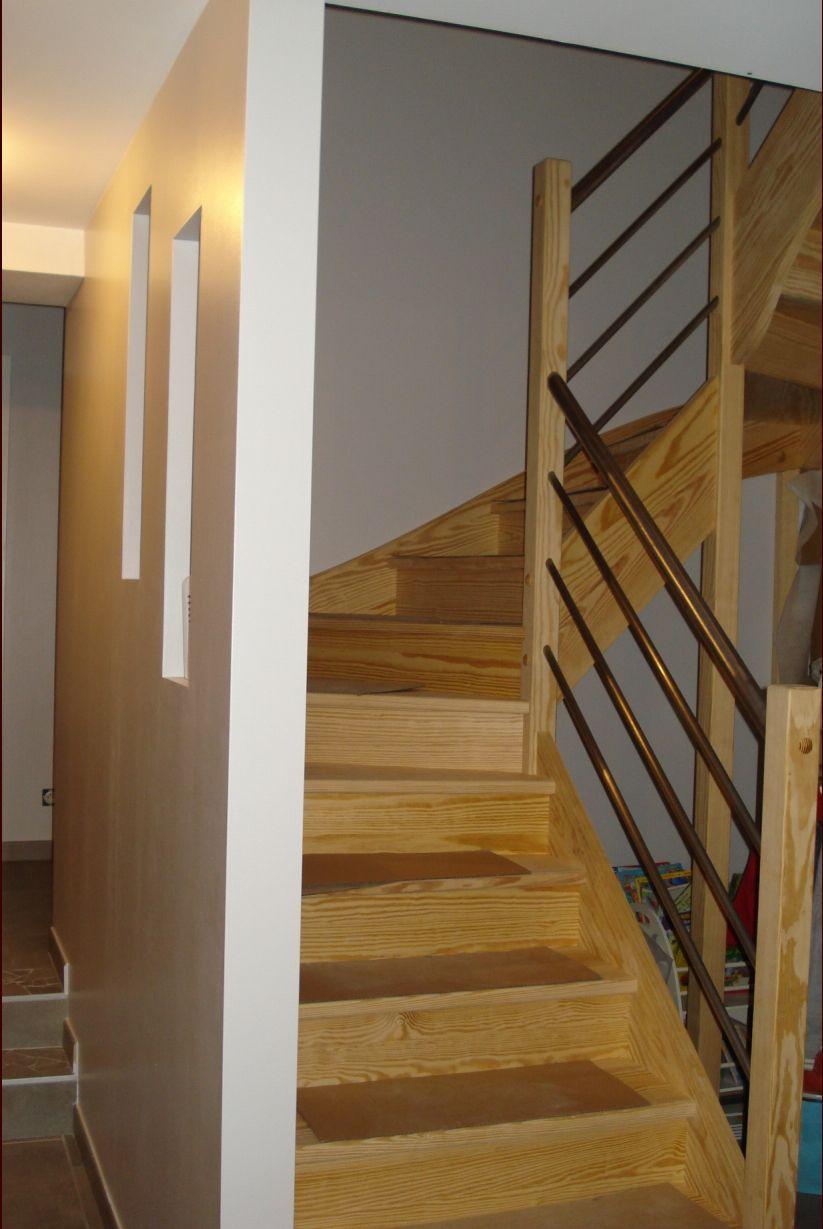 Photo escalier bois sur mesure  Escalier  Haute Loire (43) ~ Escalier Bois Sur Mesure
