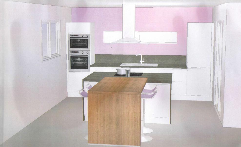 cuisine - fondations - fondations finale !, montarnaud (herault) - Lave Vaisselle En Hauteur Cuisine