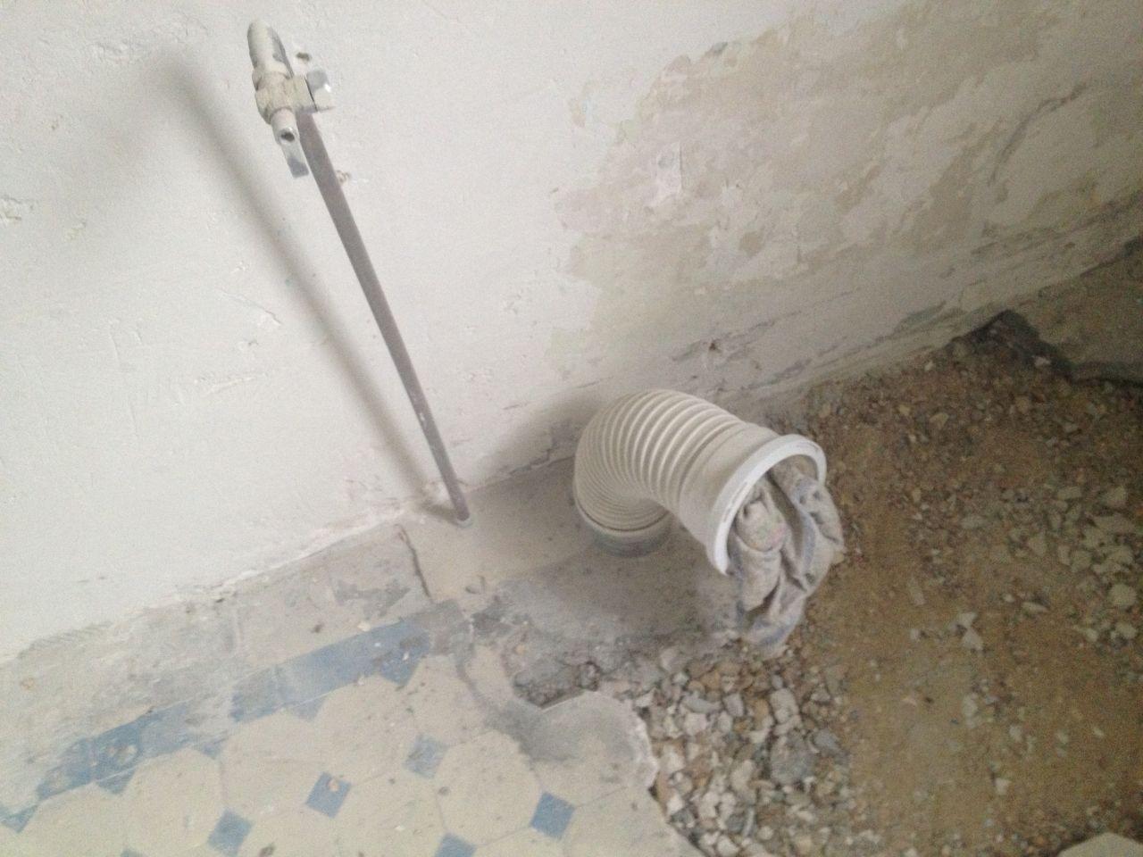 Evacuation WC existante