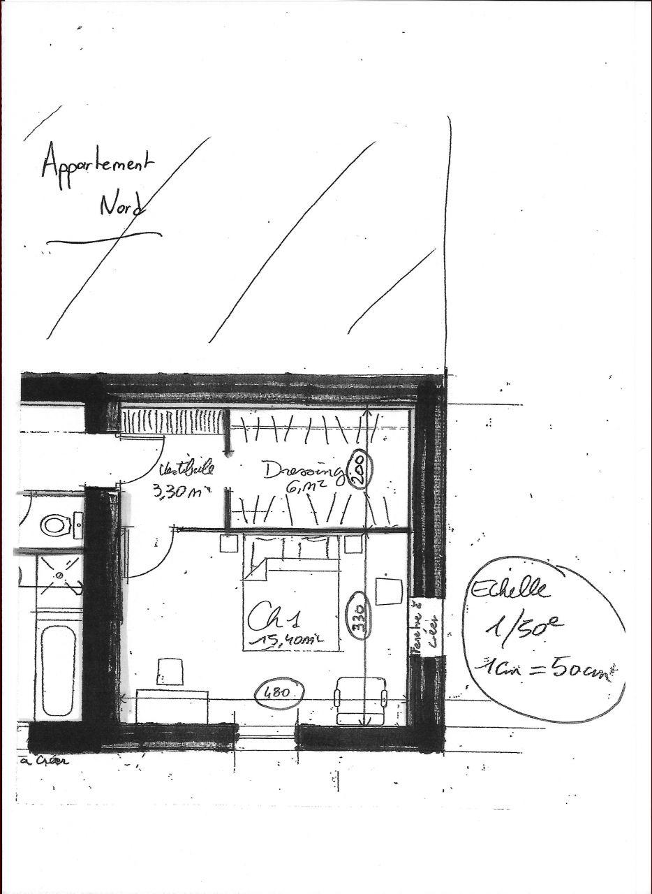 Photo projet 3 ouverture dans mur porteur pour acces dans for Fenetre mur porteur