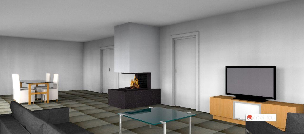 PERSPECTIVE 3D de la cheminée