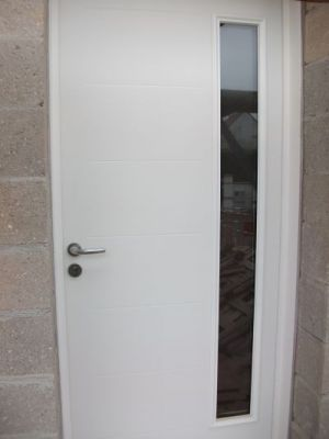 Porte d'entrée Abscisse blanc