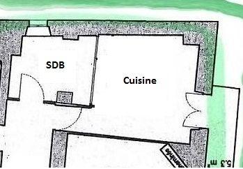 Plan centré sur la cuisine