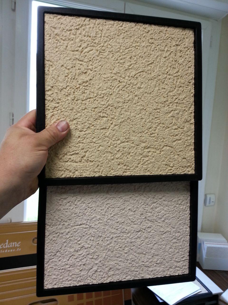 Choix du cr pi carrelage etc terrassement et fondations montage du vide - Couleur de crepis exterieur maison ...