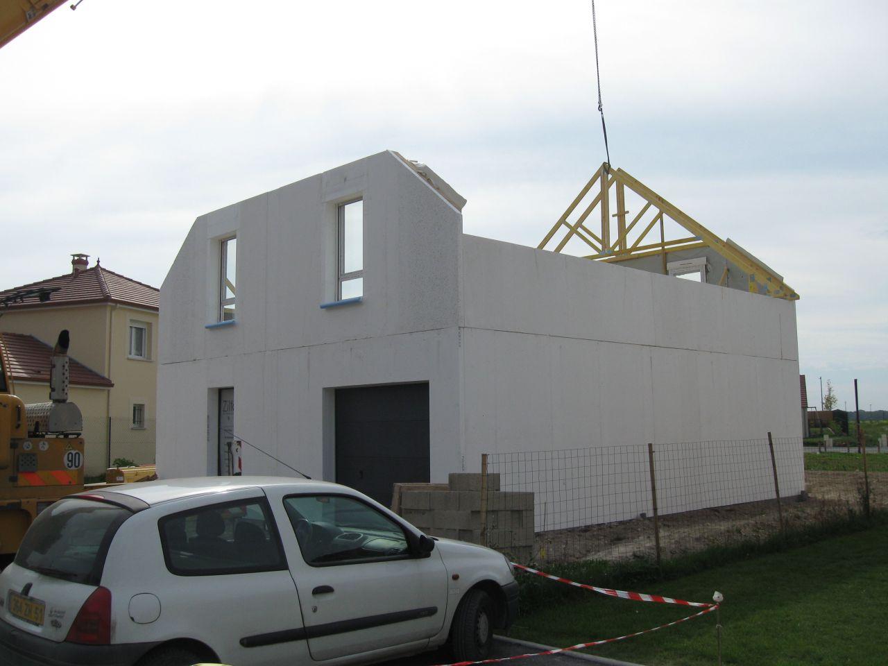 étage monté, début de la toiture
