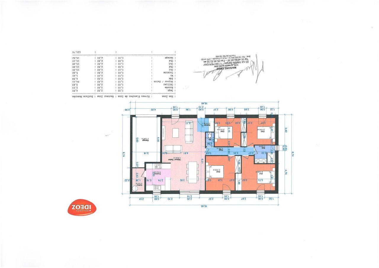 Plan de maison que nous avons signé en attente du permis de construire