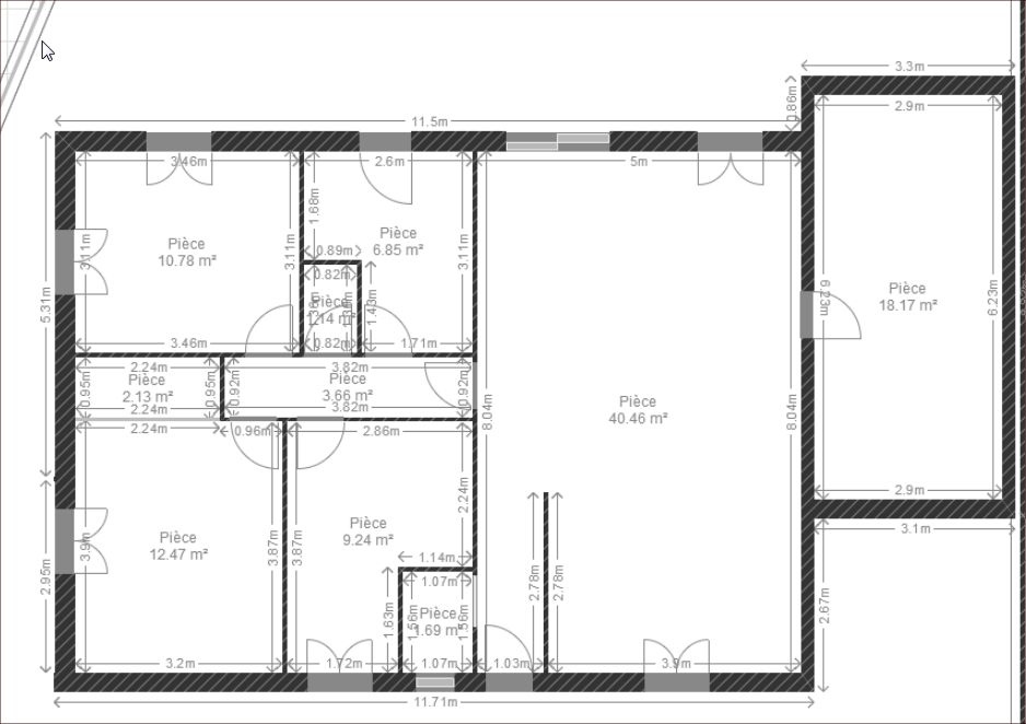 le plan de la maison fait par mes soins ou pas - Plan Maison 110m2 Plein Pied