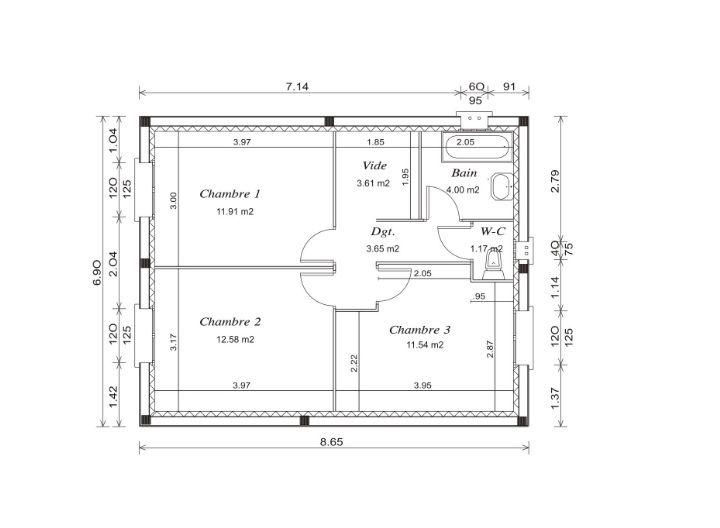 plan maison plain pied 94m2