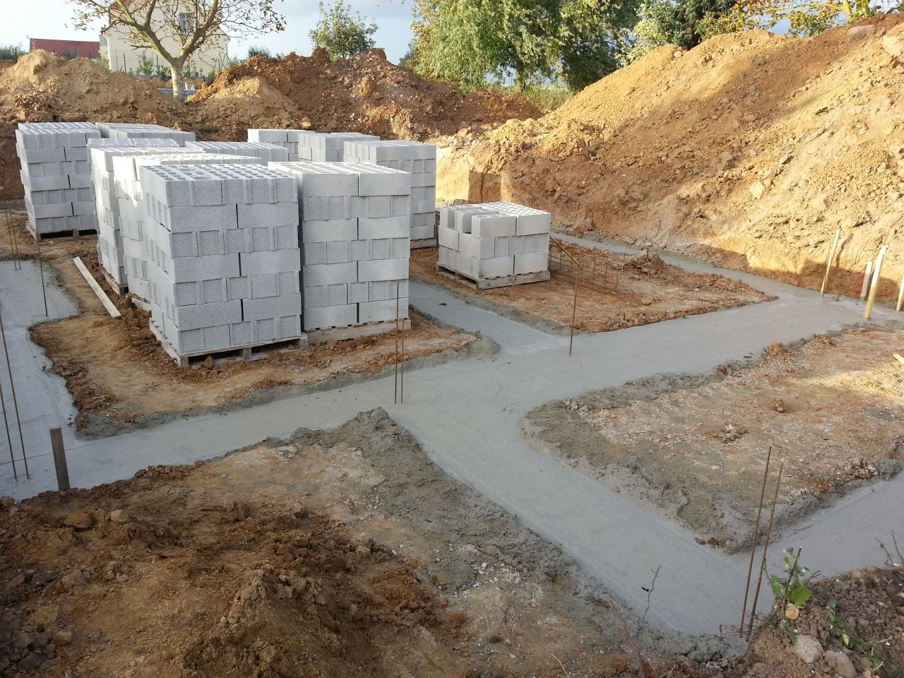 Choix du cr pi carrelage etc terrassement et fondations for Terrassement et fondation