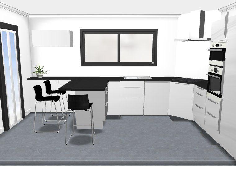 Cuisine ikea abstrakt blanc avec retour repas votre avis for Ikea cuisine abstrakt blanc