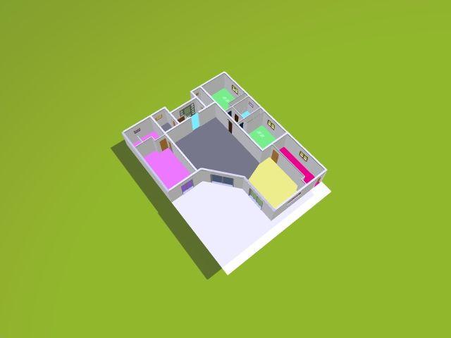 plan 3D de la villa