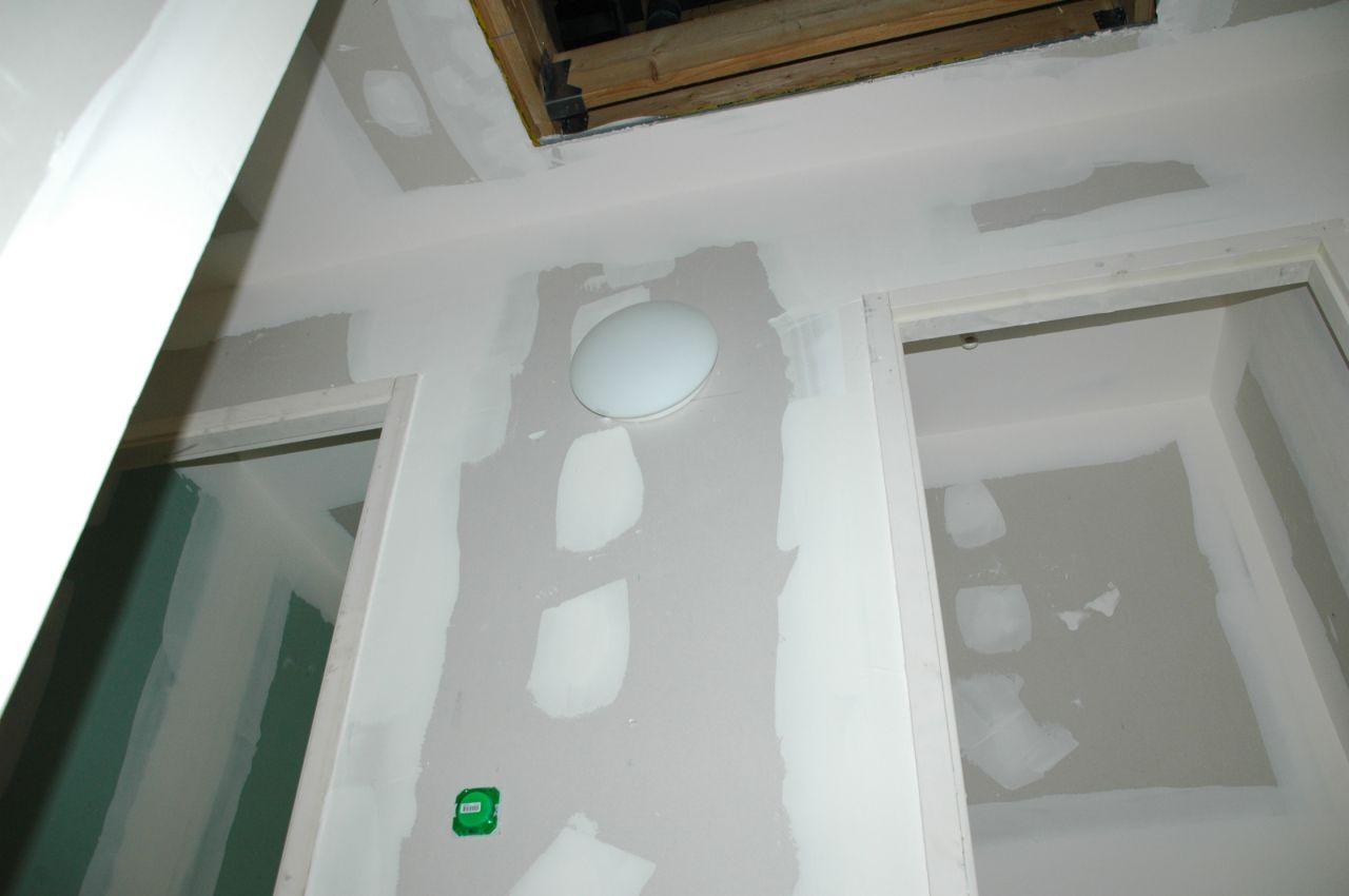 Placo termin chauffage au sol clairage tableau for Lumiere dans la douche