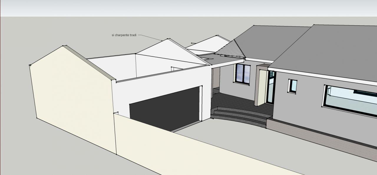 Linteau de porte de garage largeur 5m for Porte de garage sans linteau