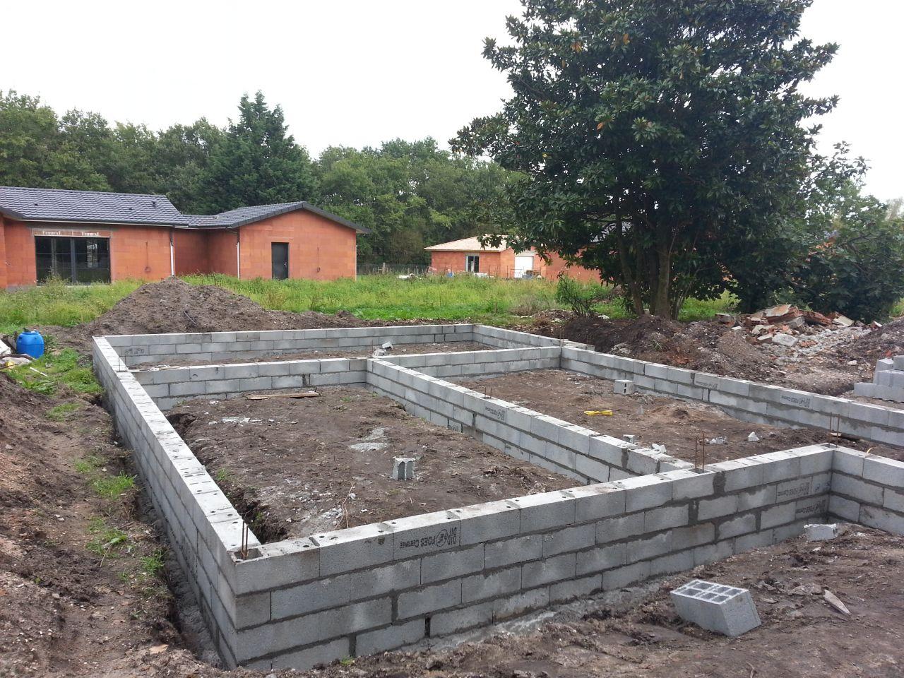 Muret de fondation