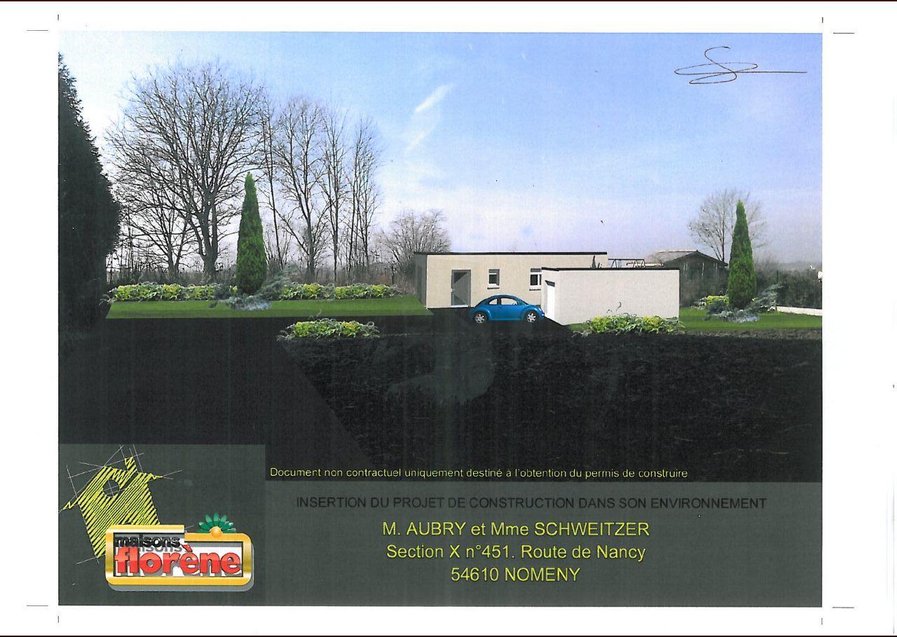 Maison plain pied avec patio central nomeny meurthe et for Simulation maison 3d