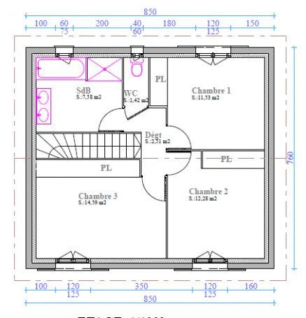 Besoin conseils plan maison 110 m2 29 messages for Modele maison 110 m2